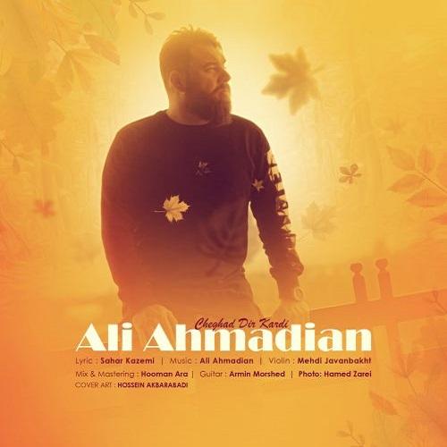 دانلود موزیک جدید علی احمدیان چقدر دیر کردی